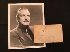 FRANK MORGAN & Cedric Hardwicke signed autographed Album Page 1939 WIZARD OF OZ