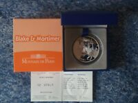 MONEDA DE 10 EUROS FRANCIA 2010 PLATA PROOF BLAKE & MORTIMER