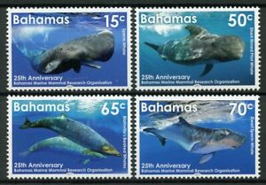 Bahamas Whales Stamps 2017 MNH Marine Mammal Research Pt II Animals 4v Set