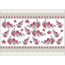 10 Decoupage Rice Paper Sheets Vintage Lace Border Roses Flowers 25 x 35 cm