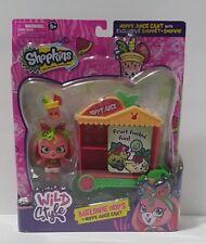 Shopkins Shoppet Wild Style Exclusive Melonie Hops + Hoppy Juice Cart Season 9