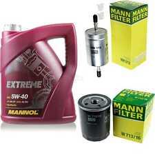 MANNOL 5 L Extreme 5W-40 Motor-Öl+MANN-Filter Fiat Punto 176 1.4 GT Turbo