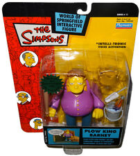 Simpsons Plow King Barney Action Figure WOS MOC Series 11 RARE Intelli-Tronic