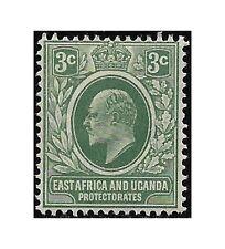 East Africa Uganda Protect. stamp 1907 Edward VII  3c. grey-green SG.35 MH -F471