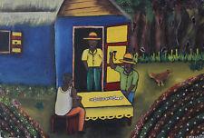 Peinture originale haïtien artiste Marco 12x16inc haïtien Art Haïti