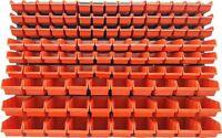 117 teiliges SET Lagersichtboxenwand Stapelboxen mit Montagewand Werkzeugwand