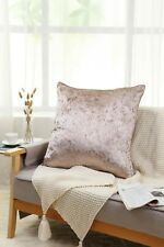 NEW Crushed Velvet Cushion Covers Luxury Plush Plain 18 X 18, 24 X 24 inches