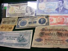 Lot of 8  Unused & Used World Banknotes, all diff.....Bit scarcer ones.