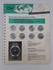 OMEGA Technischer Ratgeber Die Omega Chronographen-Kaliber 860-861-910-930 1970