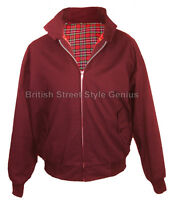 Relco Classic Harrington Jacket-BURGUNDY-Tartan Check-Mod-Skin-Original 60s cut