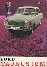 Ford Taunus 12M circa 1963 Original French Langauge Sales Brochur No. MER 15-99