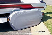 Triton/Skeeter: Boat trailer fender/tire strg covers exact fit tandem metal