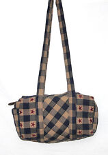 Park Designs Checkered Mini Cotton Duffel Bag