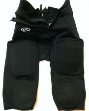 Rawlings Mens Football Pant - PADDED - Black - Adult - Mens Size Large