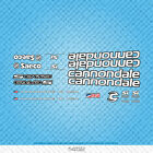 Cannondale Bicycle Decals - Transfers - Stickers - White & Black - Set 1452