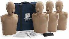 Prestan AED CPR Training Manikins with Mon 4 Pack CHILD Light Skin PP-CM-400M