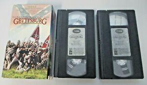 GETTYSBURG VHS Pal Video Infantry Military War History Tom Berenger Sam Elliot