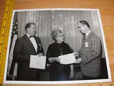 NASA Manned Space Center 1960s 8x10 certificate award photo b&w employees