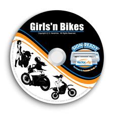 Girls Bikes Motorcycle Clipart Vector Clip Art Vinyl Cutter Plotter Graphics Cd