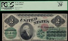 1862 $2 Legal Tender Note - PCGS 20 Very Fine Fr #41