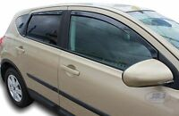 DNI24257 Nissan QASHQAI MK1 J10 2007-2013 wind deflectors  4pc set TINTED HEKO