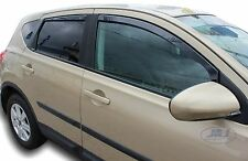 DNI24257 Nissan QASHQAI MK1 J10 2007-2013 wind deflectors  4pc set TINTED HEKO