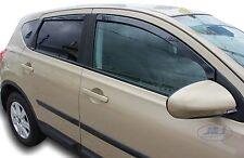 Wind deflectors for Nissan QASHQAI MK1 J10 2007-2013  4pc set TINTED HEKO