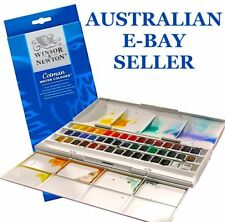 * Winsor & Newton Cotman Watercolour Studio Set (45 Half Pans) Watercolor *