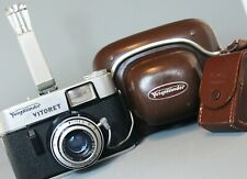 VOIGTLANDER VITORET 35mm Film Camera VASKAR 50mm f2.8 Lens EMO WETZLAR Flash