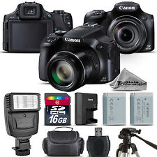 Canon PowerShot SX60 HS Digital Camera 16.1MP 65x Optical NFC / WiFi - 16GB Kit