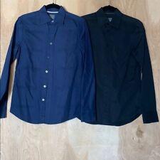 A/X Armani Exchange Bundle of 2 Long Sleeve Button Down Dress Shirts Size XS