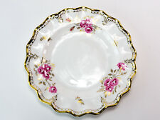 Royal Crown Derby English Bone China Pinxton Roses 27 Cm Fluted Plate