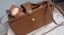 Gucci vintage shoulder bag made in italy,brown leather