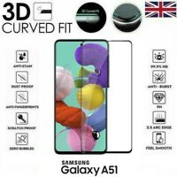 For Samsung Galaxy A51 (2020) 3D Tempered Glass LCD Screen Protector Black