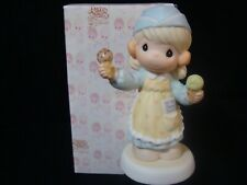 Precious Moments-Scoop'in Up Some Love-Girl With Ice Cream Cones-Limited Edition