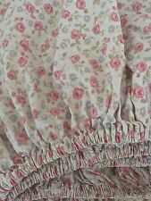 Shabby Cottage Chic NAUTICA Fitted Sheet~Stemmed Roses~TWIN~EUC