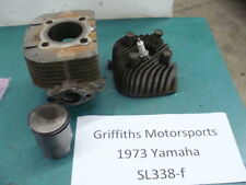 73 yamaha sl338f 338 sl d f gp? 72? 74? L LEFT cylinder piston head rings nice