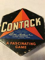 Vintage 1939 CONTACK GAME from PARKER BROTHERS a fascinating game