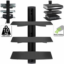 3 Tier Black Floating DVD Player Glass Shelf Game Console Sky, DVR PS4 PREBUILT