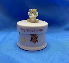 My First Curl Ceramic Trinket Keepsake Box