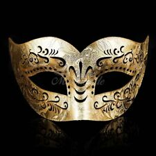 GOLD Leather Masquerade Mask for Men