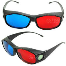 Blue Red 3D Glasses Frame For Dimensional Anaglyph Movie DVD Game New