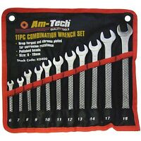11pc Combination Wrench Set 6-19mm Spanner Mechanic Drop Forged Chrome K0400