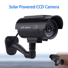 Solar Power Dummy Fake Camera CCD Surveillance Home Office Security LED Nights