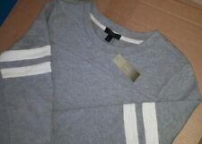 J Crew Lounge varsity side zip Sweater tshirt Dress Grey Stripe £98 Medium  £98