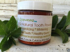 Natural Re-Mineralizing & Whitening Tooth Powder, Organic Cocoa Chocolate Mint
