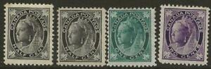 CANADA QV Widow Weeds Collection of 9 MINT Stamps inc SG156 - Total Cat £278
