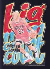 Michael Jordan Big Men on Court Insert Die Cut Z-Force Artist Custom Sketch 2/23