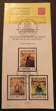 Vatican City Sc#960-2 FDC on Offical Bulletin; Christian Archeology