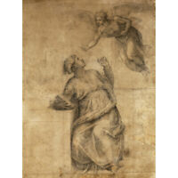 Michelangelo Buonarroti Annunciation To The Virgin Canvas Art Print Poster